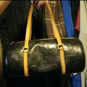 Louis Vuitton papillon bag tote purse black  30
